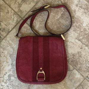 Cole Haan leather crossbody saddle bag